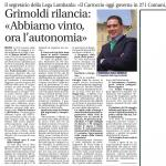 GRIMOLDI RILANCIA: