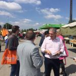 Grimoldi: Gazebo al mercato di Muggio' (Mb) a sostegno del candidato sindaco Pietro Zanantoni 26 maggio voto lega prima l'italia