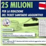 LOMBARDIA: 25 MILIONI DI EURO PER LA RIDUZIONE DEL TICKET SANITARIO AGGIUNTIVO