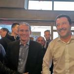 Grimoldi: all'inaugurazione del point elettorale per Giacomo Stucchi sindaco con Matteo Salvini, anche a Bergamo prima i bergamaschi prima gli italiani